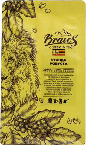 Зеленый кофе Уганда Робуста