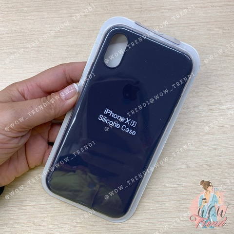 Чехол iPhone X/XS Silicone Slim Case /midnight blue/