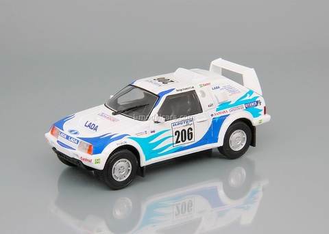Lada Samara Т3 №206 Rally Raid Paris-Pekin 1995 1:43 DeAgostini Auto Legends USSR Sport #3