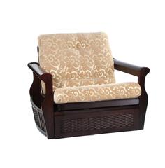 """Кресло """"LB 2074-D JAVA (Ратан)"""" с ящиком —  Brown (Темная вишня) (MK-2612-JA)"""