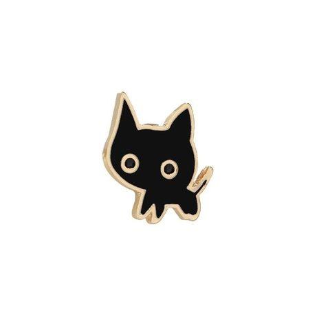 Значок, пін - Кошеня чорне