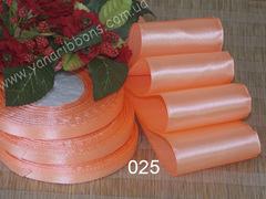 Лента атласная шириной 5см персиковая - 025