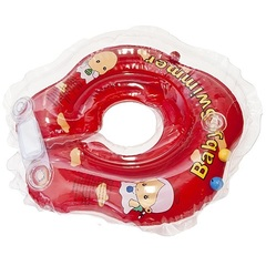 Baby Swimmer Круг на шею 3-12 кг с погремушкой (красный) (BS21-7)