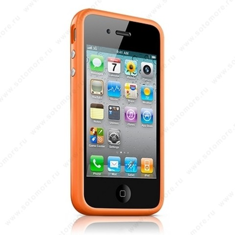 Бампер Apple для Apple iPhone 4s/ 4 Bumper - Orange