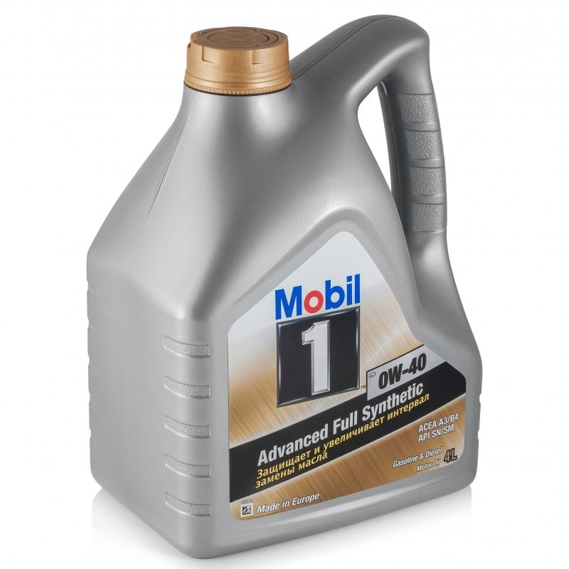 Mobil 0W40 Синтетическое моторное масло для любого типа двигателя