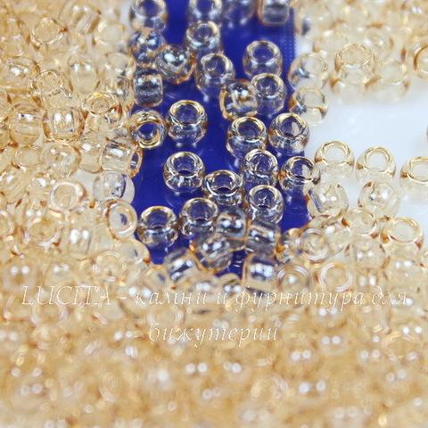 0629 Бисер японский TOHO 8/0, персиковый с золотым блеском