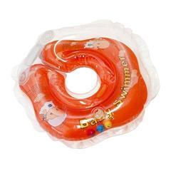 Baby Swimmer Круг на шею 3-12 кг с погремушкой (оранжевый) (BS21-8)