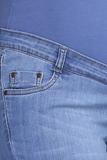 Джинсы для беременных (SLIM) 09332 синий