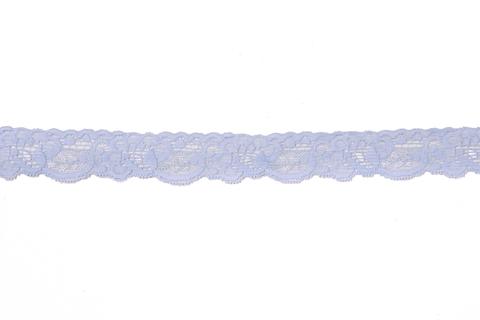 Кружево эластичное голубое 3 см
