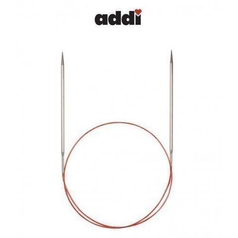 Спицы Addi круговые с удлиненным кончиком для тонкой пряжи 50 см, 4 мм