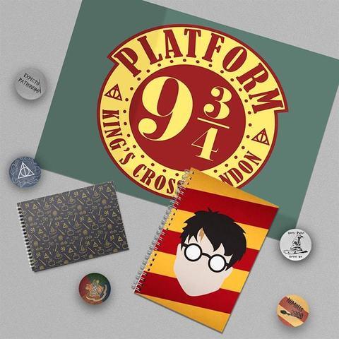 Harry Potter: набор из плаката А3, блокнота, тетради и 5 значков