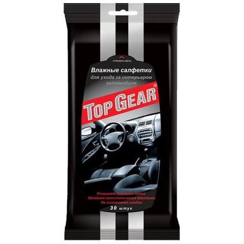 Салфетки влажные для салона автомобиля Top Gear №30