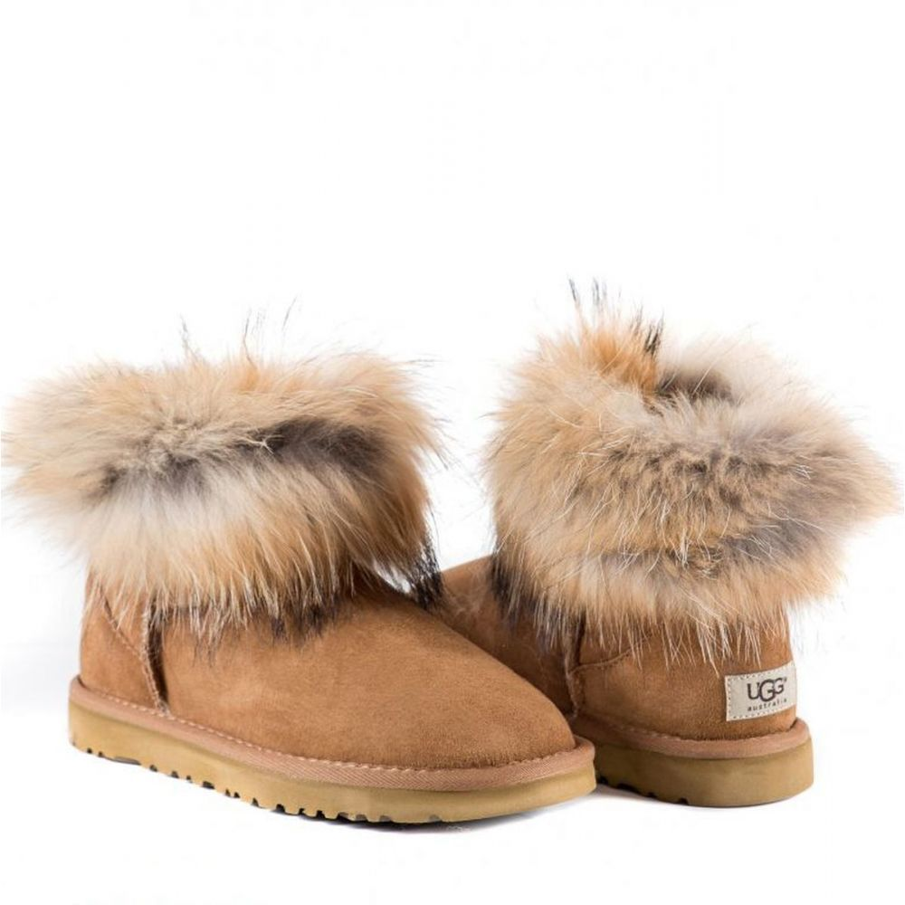 УГГИ FOX FUR CHESTNUT 7106W