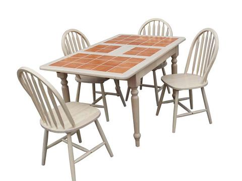 Обеденный стол 364560 деревянный беленый дуб