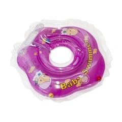 Baby Swimmer Круг на шею 3-12 кг с погремушкой (фиолетовый) (BS21-2)