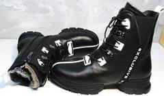 Теплые ботинки на зиму женские Ripka 3481 Black-White.