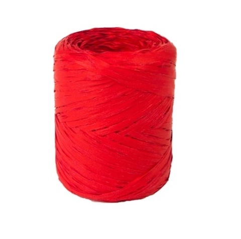 Рафия искусственная Польша 200 м Цвет:красная