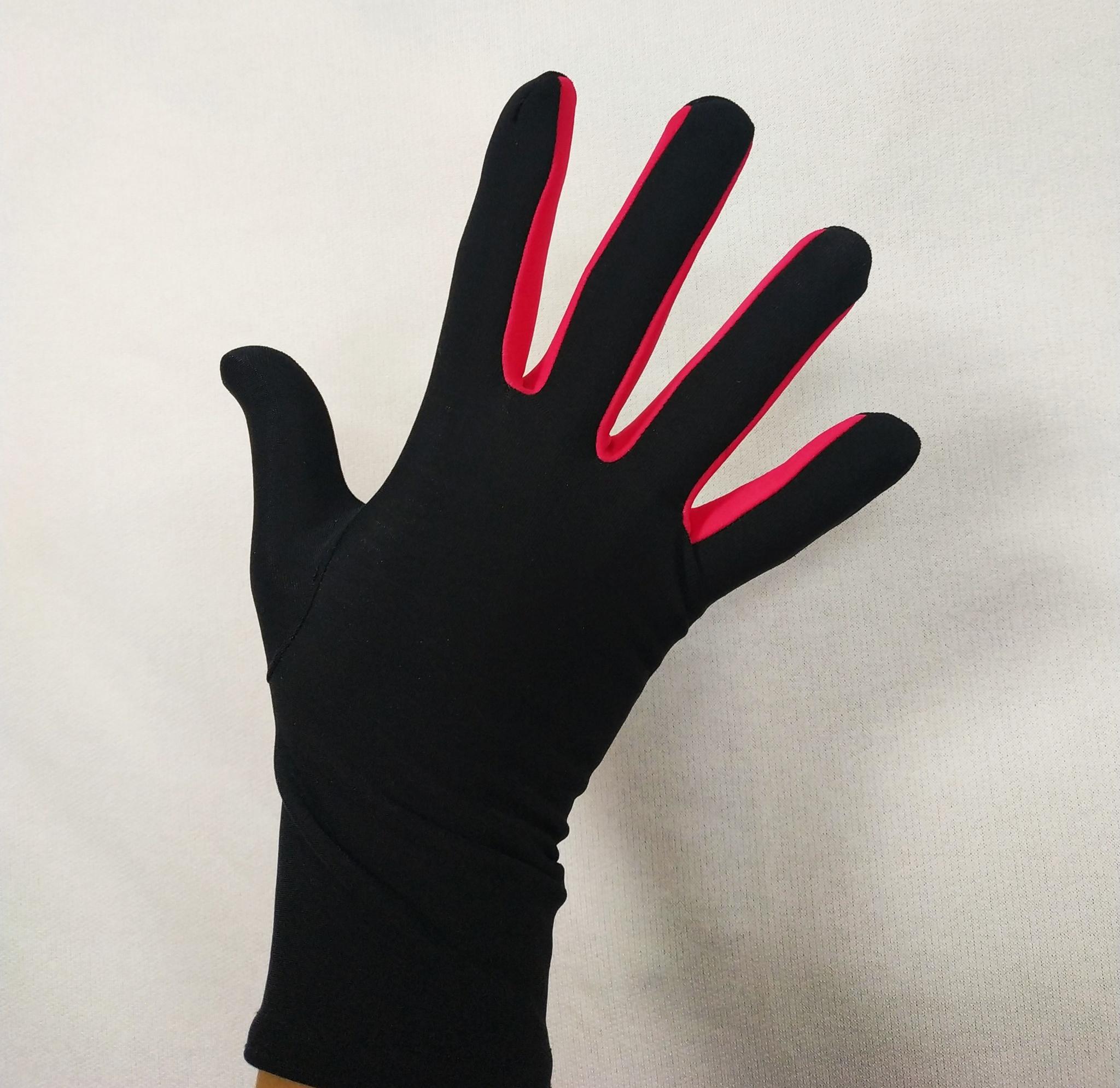 Перчатки из термоткани (с малиновой вставкой)