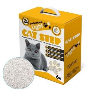 купить кет степ кэт стэп Cat Step Professional Light 6л наполнитель бентонитовый, комкующийся 6 литров 2.5 кг