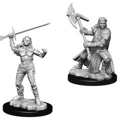 D&D Nolzur's Marvelous Miniatures - Female Half Orc Barbarian