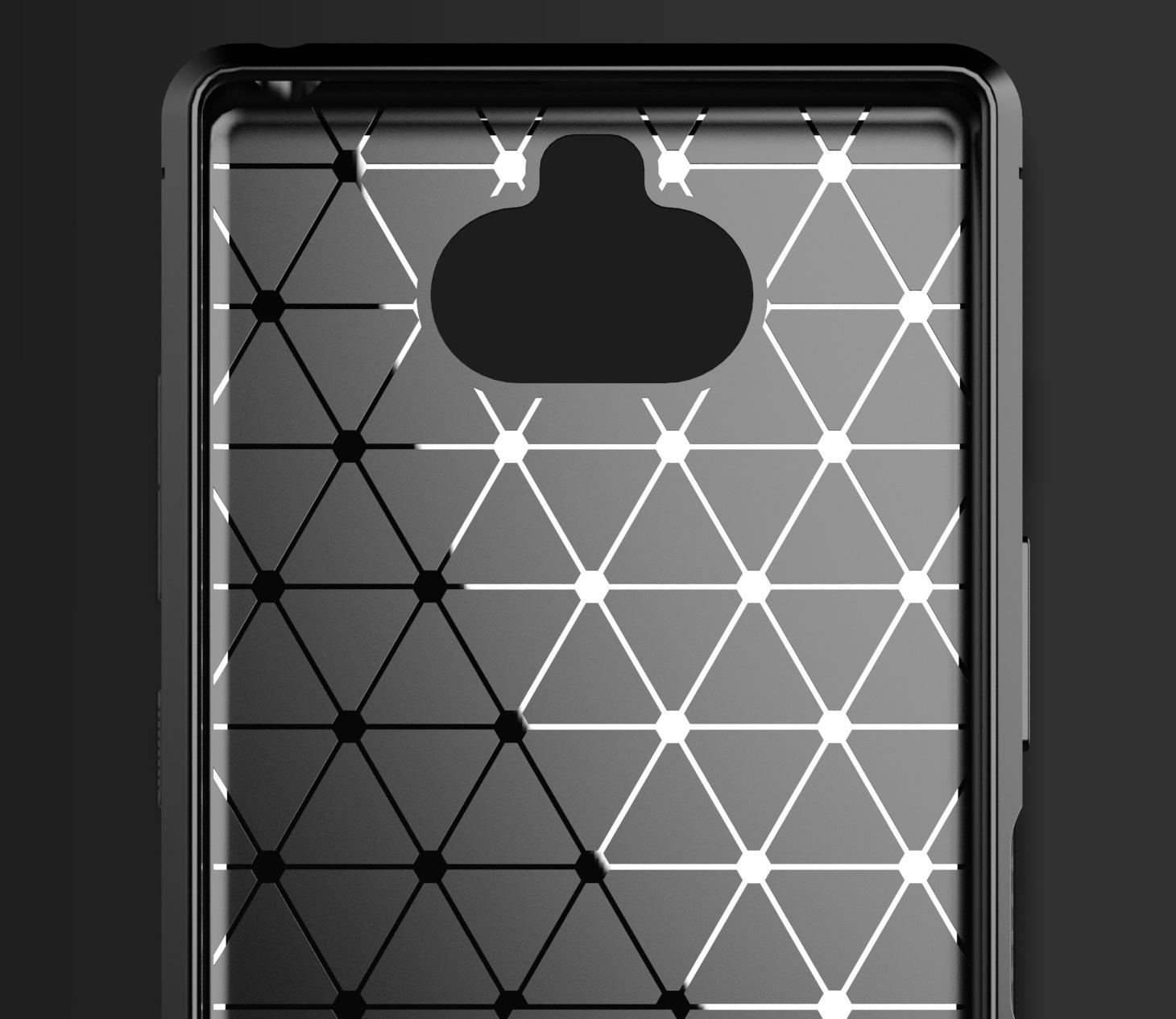 Чехол Sony Xperia 8 цвет Black (черный), серия Carbon, Caseport