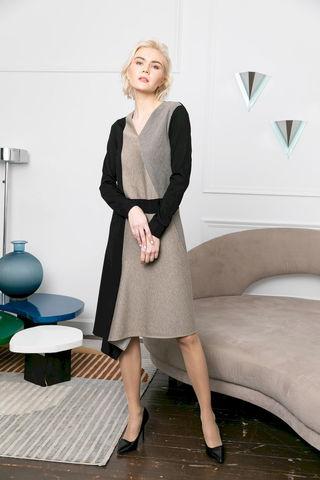 Фото трехцветное платье с контрастными вставками - Платье З470-823 (1)