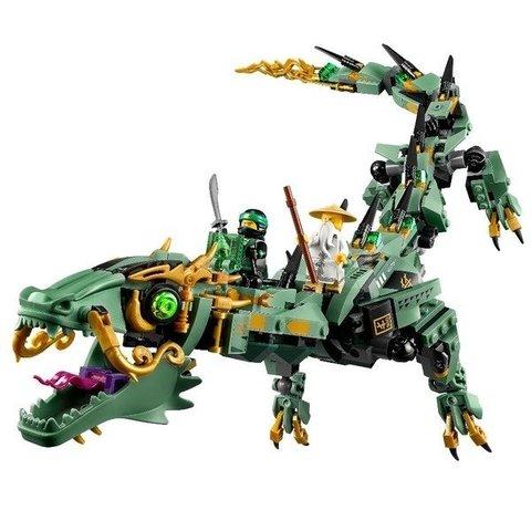 LEGO Ninjago: Механический дракон Зелёного ниндзя 70612 — Green Ninja Mech Dragon — Лего Ниндзяго