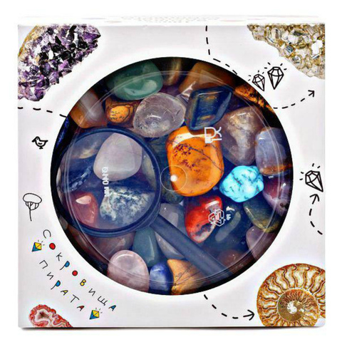 Набор самоцветов Сокровища Пирата N2, 15х15х5 см, 850 г