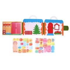 Игра в дорогу из фетра Кукольный домик, Smile decor