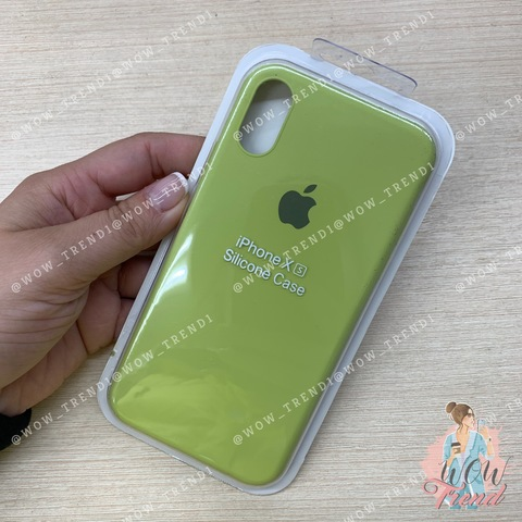 Чехол iPhone X/XS Silicone Slim Case /lime/