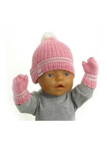 Вязаный комплект - На кукле. Одежда для кукол, пупсов и мягких игрушек.