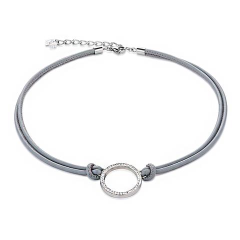 Колье Coeur de Lion 4926/10-1800 цвет серый, серебряный
