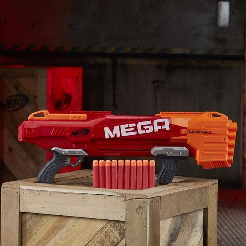 Hasbro: Nerf Бластер Твиншок из серии Мега B9894 — Nerf N-Strike Mega TwinShock — Нерф Нёрф Хасбро