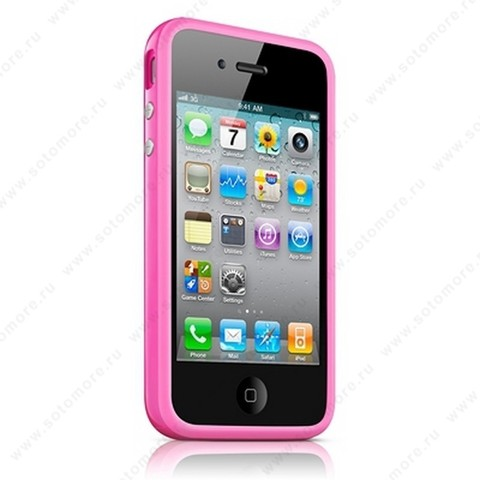 Бампер Apple для Apple iPhone 4s/ 4 Bumper - Pink