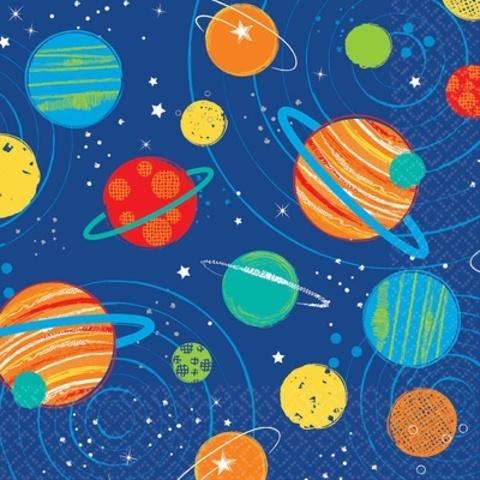 Салфетка Космос 25см 16шт