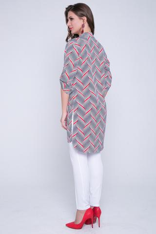 <p>Хит сезона! Отличный осенний вариант. Рубашка удлиненная с разрезами. Ворот на стойке. Рукав до локтя с патой. (Длина: 44-93см; 46-94см; 48-95см; 50-96см; 52-98см)</p>