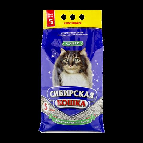 Сибирская кошка Супер Наполнитель для туалета кошек комкующийся