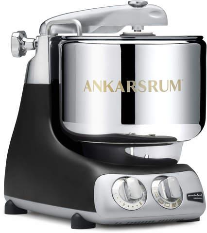 Черный миксер-тестомес дома Ankarsrum с металлической чашей 7 литров, фото