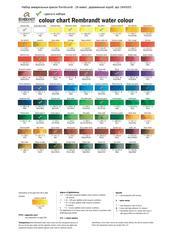 Набор акварельных красок Rembrandt Профессиональный - 28 цветов в кюветах по 5мл