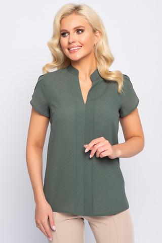 <p>Изящная блузка классического стиля. Гармонично сочетается с множеством фасонов брюк и юбок.</p>