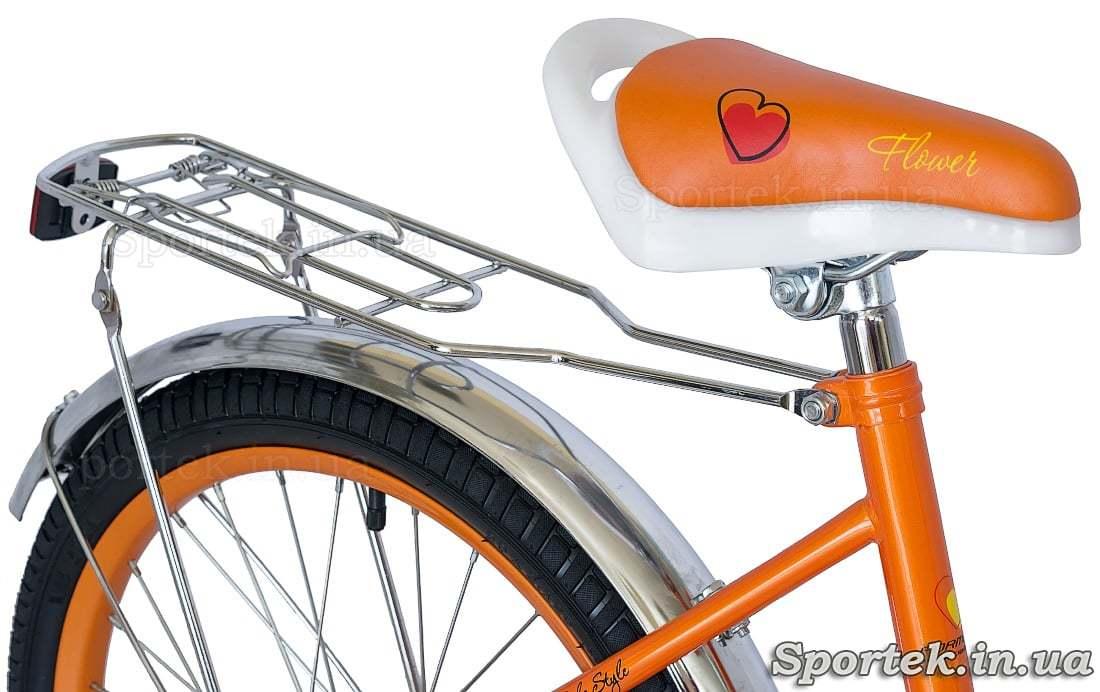 Велосипед для девочек Formula Flower - седло, багажник
