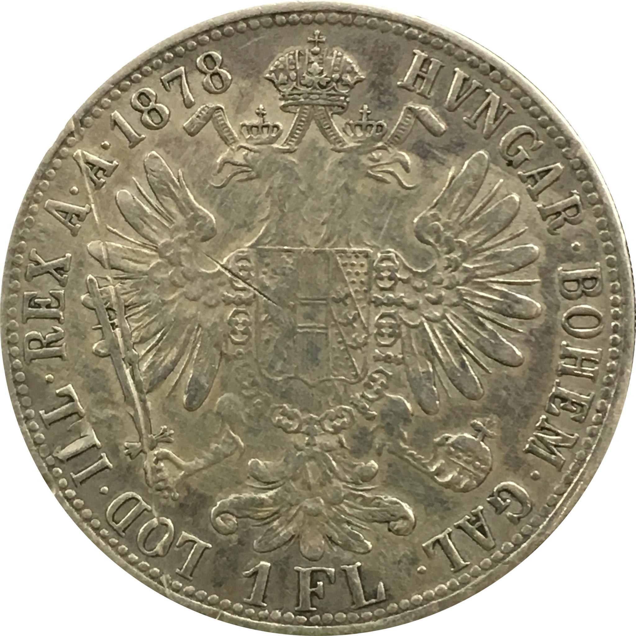 1 флорин 1878 год Австро-Венгрия