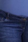 Джинсы для беременных (REGULAR) 09339 синий