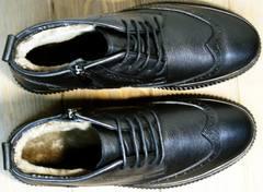 Ботинки мужские зимние кожаные классические Rifellini Rovigo C8208 Black