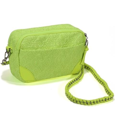 Стеганная сумка лимонного цвета