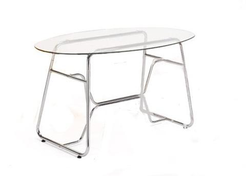 Обеденный стол GC 2296 стеклянный хром