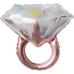 К 27''/69 см Фигура, Кольцо с бриллиантом, Розовое Золото, 1 шт.