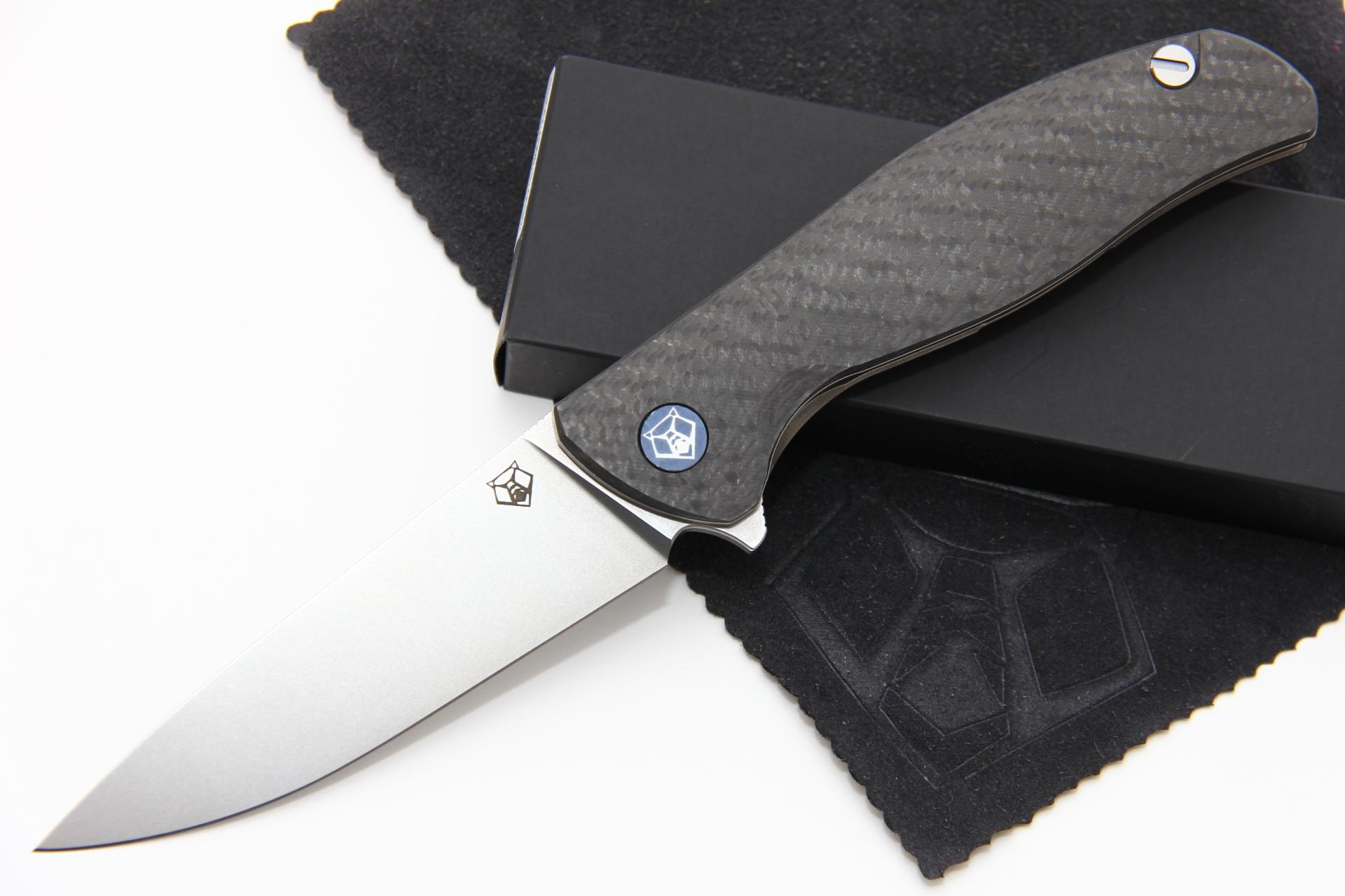 Нож Широгоров Ф3 М390 карбон 3D подшипники