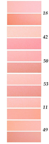 FFleur Румяна В 712 тон A  ROSE компактные с кистью(6шт) тона 11,18,42,50,49,53