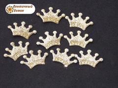 Декор Мягкая корона золотая